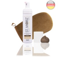 St. Moriz Mousse Dark 200 ml & Premium-Applikator