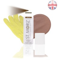 St. Moriz Spray Medium 150 ml & Horn-Applikator & Horn-Peeling Handschuh