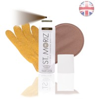 St. Moriz Spray Dark 150 ml & Horn-Applikator & Horn-Peeling Handschuh