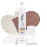 St. Moriz Mousse Medium 200 ml & Horn-Applikator & Sisal-Handschuh